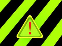 Warning triangle signs Royalty Free Stock Images