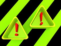 Warning triangle signs Royalty Free Stock Photography