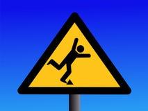 Warning trip hazard sign vector illustration