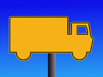 Warning truck sign Royalty Free Stock Photography