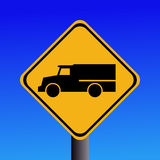 Warning trucks sign Stock Photography
