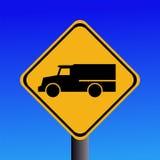 Warning trucks sign Stock Photography