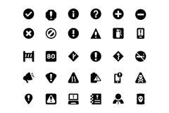 Warning Vector Icons 2 Royalty Free Stock Image