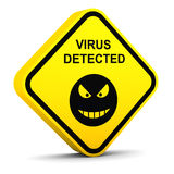 Warning: virus detected Royalty Free Stock Photography