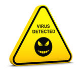 Warning: virus detected Stock Image