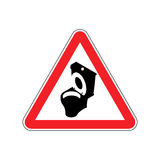 Warning WC. Toilet bowl on red triangle. Road sign attention Royalty Free Stock Photos