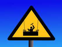 Warning window cleaners sign Stock Images
