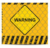Warning and wire banner Stock Images