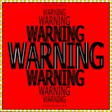 Warning words sign pattern design royalty free stock images