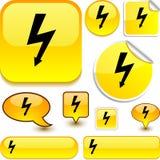 Warning yellow signs. Stock Image