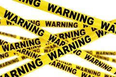 Warning Yellow Tape Strips Royalty Free Stock Image