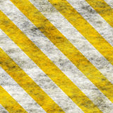 Warning Yellow&White Hazard Sign Royalty Free Stock Images