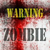 Warning Zombie background Royalty Free Stock Photos