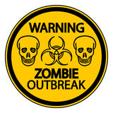 Warning zombie outbreak Stock Image