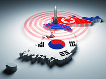 Warning zone of korea Stock Photos