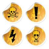 Warnings stickers Stock Image