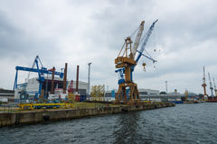 Warnow Werft Стоковые Фотографии RF