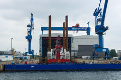 Warnow Werft Obrazy Stock