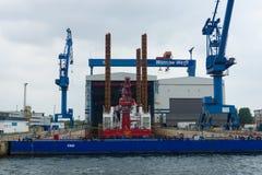 Warnow Werft Immagini Stock