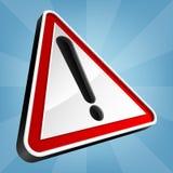 Warnschild, Vektor-Illustration lizenzfreie abbildung