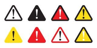 Warnschild, Warnzeichen, Aufmerksamkeitszeichen Gefahrenwarnende Aufmerksamkeitsikone Vektor Abbildung