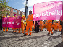 Warnstreik Verdi Stock Photography