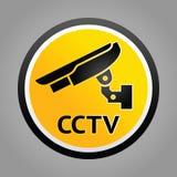Warnsymbol der Überwachungskamera Lizenzfreie Stockfotografie