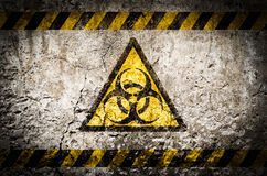 Warnsymbol der radioaktiven Strahlung Stockfoto