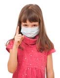 Warnt von der Grippe Stockfoto