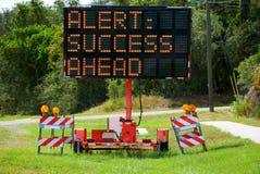 Warnung: Erfolg voran Lizenzfreie Stockbilder