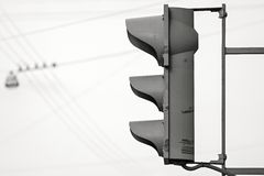 WarnungsAmpel gegen den Himmel Lizenzfreie Stockfotografie