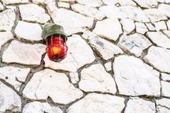 Warnungsbirne des roten Feuers Not lizenzfreie stockfotografie