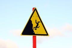 Warnzeichen Stockfoto