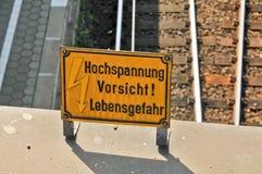 Warnzeichen Stockbild