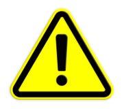 Warnzeichen Stock Abbildung