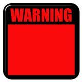 Warnzeichen 3D Lizenzfreie Stockfotografie
