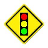 Warnzeichen der Ampel voran Stockbild