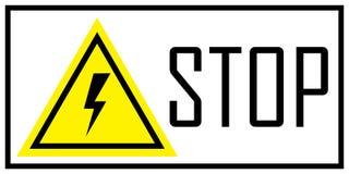 Warnzeichen der Gefahr Stockbild
