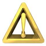 Warnzeichen der Gefahr mit Ausrufsmarkierung Lizenzfreie Stockbilder