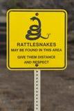 Warnzeichen der Klapperschlangen Stockfoto