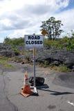 Warnzeichen der Lava Stockfotografie