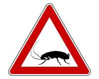 Warnzeichen der Schabe Stockfoto