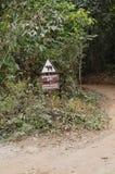 Warnzeichen des Elefanten Lizenzfreie Stockfotografie