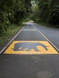 Warnzeichen des Elefanten Stockfoto