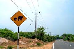 Warnzeichen des Elefanten Stockbilder