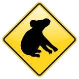 Warnzeichen des Koala Stockfoto