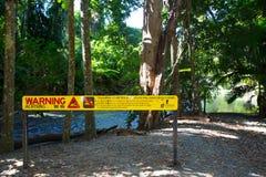 Warnzeichen des Krokodils Lizenzfreies Stockbild