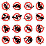 Warnzeichen des Nagetiers und der Plage lizenzfreie stockfotos