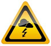 Warnzeichen des stürmischen Wetters stock abbildung