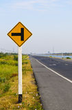 Warnzeichen des Verkehrs Lizenzfreie Stockfotos